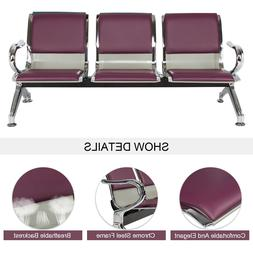 3-Seat Office Reception Chair Waiting Room Bench Visitor Gue
