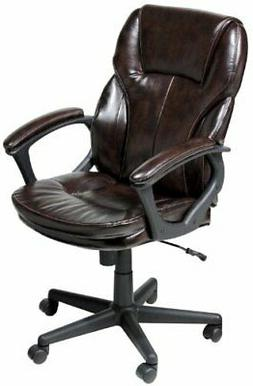 Serta Faux Leather Executive Chair, Roasted Chestnut