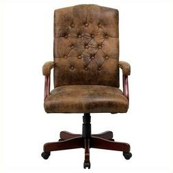 Flash Furniture 802-BRN-GG Bomber Brown Classic Executive Of