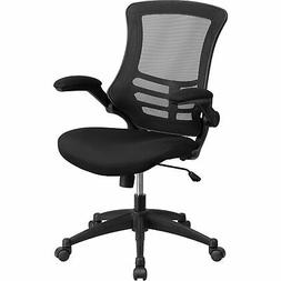 Flash Furniture Mid-Back Black Mesh Swivel Task Chair with F