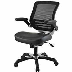 Modway Edge Mesh Back and Black Vinyl Seat Office Chair With