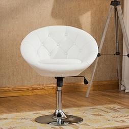 Roundhill Furniture Noas Contemporary Round Tufted Back Tilt