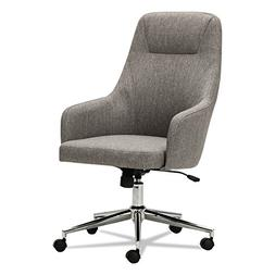 Alera ALECS4151 Captain Series High-Back Chair, Gray Tweed
