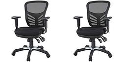 Modway Articulate Ergonomic Mesh Office Chair in Black - 2 P