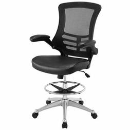 Lexmod Attainment Drafting Stool Category Office Color Black