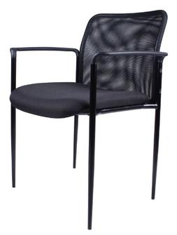 Boss Office Products B6909-BK Stackable Mesh Guest Chair in