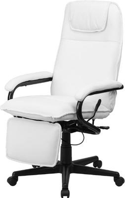 Flash Furniture High Back Leather Reclining Office Chair Whi