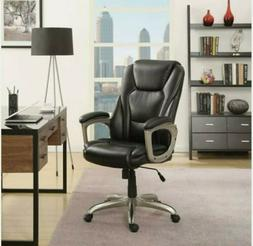 Big Tall Executive Office Chair Black Leather Manager Work E