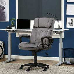 Brand New Serta Executive Office Chair in Velvet Gray Microf