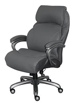 Serta CHR10053A Big & Tall Executive Office Chair, Gray