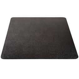 Deflecto EconoMat Black Chair Mat, Low Pile Carpet Use, Rect