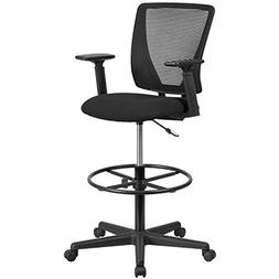 Flash Furniture Ergonomic Mid-Back Mesh Drafting Chair with