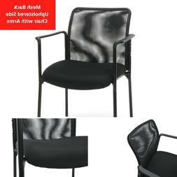 Essentials by OFM Mesh Upholstered Stacking Side Chair with