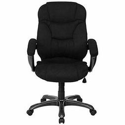 Flash Home Office Desk Chairs Furniture High Back Black Micr