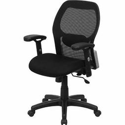 Flash Home Office Desk Chairs Furniture Mid-Back Black Super