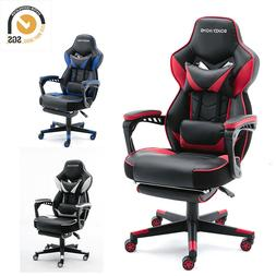Gaming Chair Racing Style Leather Office Recliner Computer S