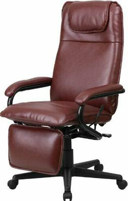 Flash Furniture High Back Leather Executive Reclining Swivel