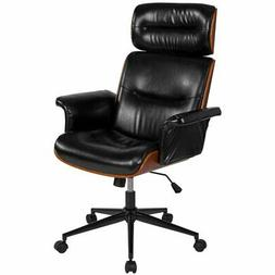 Flash Furniture High Back Leather Swivel Office Chair in Glo