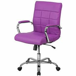 Home Office Desk Chairs Flash Furniture Mid-Back Purple Viny