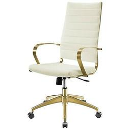 Jive Gold Stainless Steel Highback Office Chair in Gold Whit
