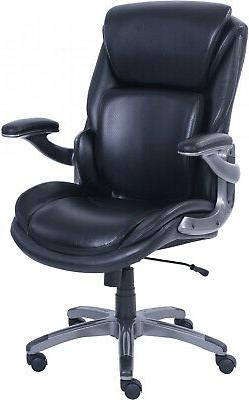 Serta 3-D Active Back Office Managers Chair, Leather Memory