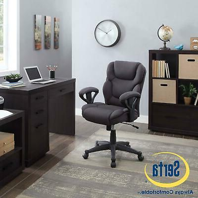 Serta Computer Chair for Office And Home Extra Cushion Lumba