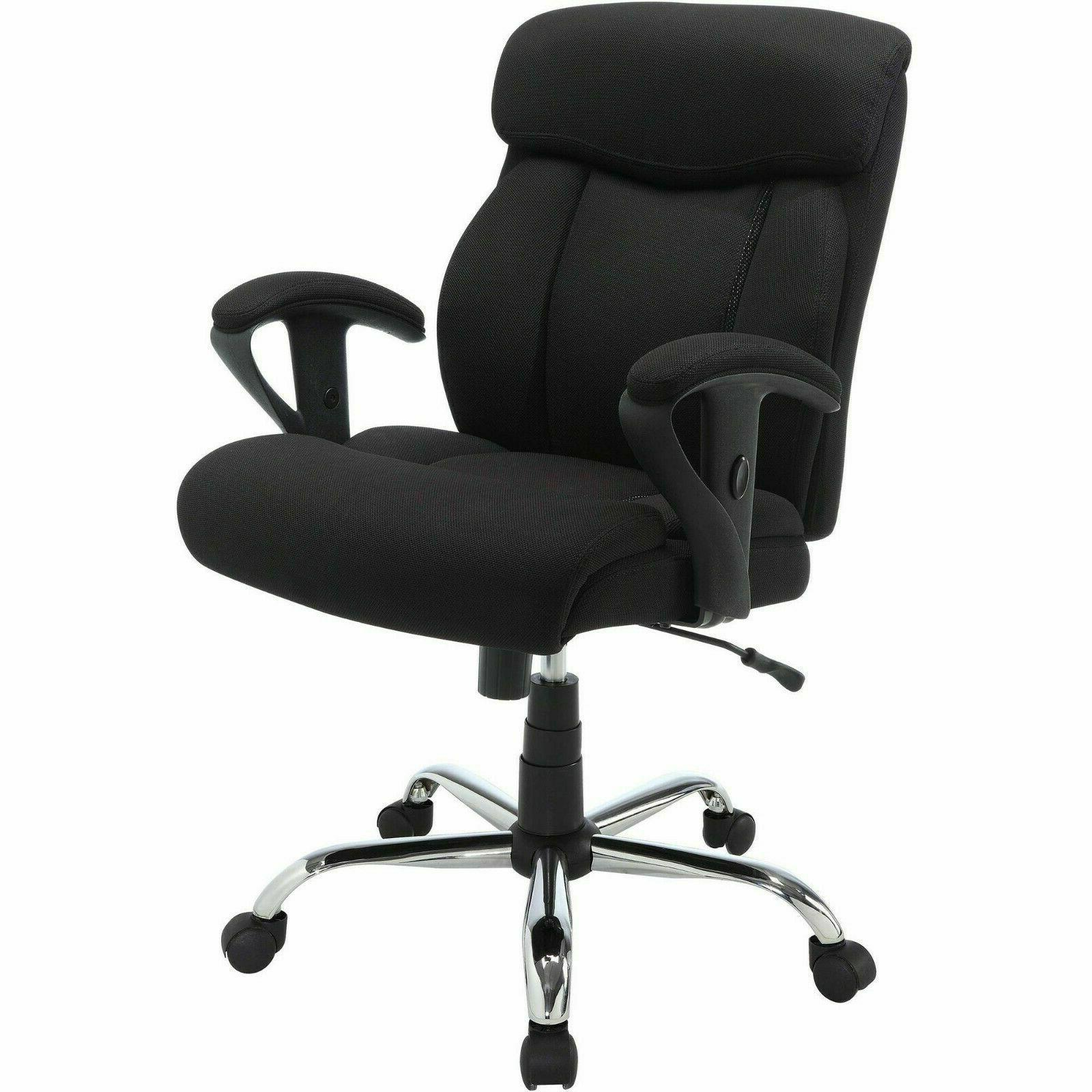 Serta Black Mesh Fabric Big Tall Manager Chair Office Desk A