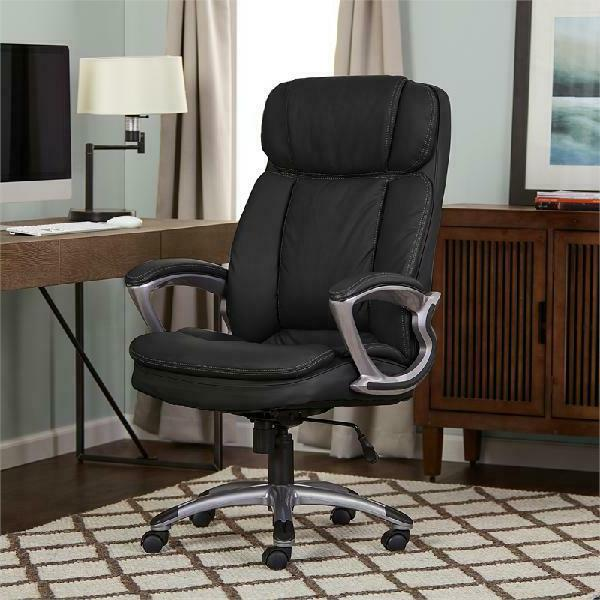 Serta Executive Tall PureSoft Office Chair, Smooth