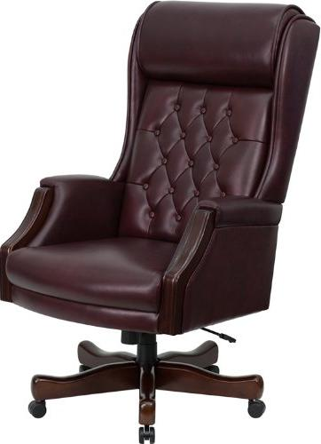 Flash Furniture High Back Traditional Tufted Burgundy Leathe