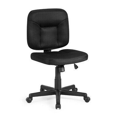 Mesh Computer Chair Low Back Adjustable Task Chair Armless H