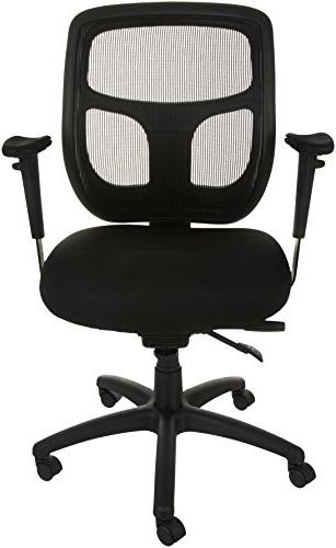 AmazonBasics Mesh Fabric Executive Mid-Back Chair, Black
