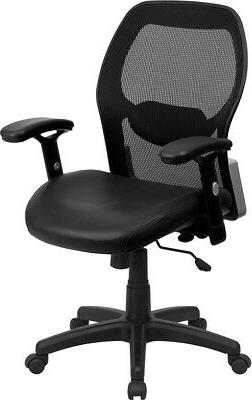 Flash Furniture Mid-Back Super Mesh Office Chair with Black