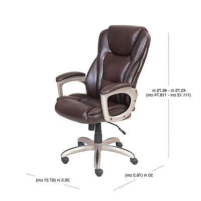 BROWN Serta Big and Tall Commercial Office Chair With Memory