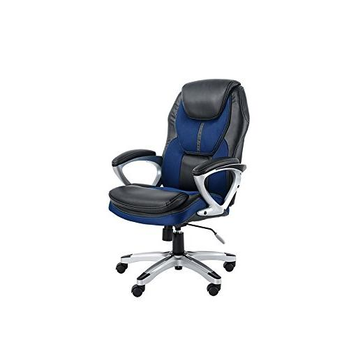 Serta Works Executive Office Chair, Faux Leather and Mesh, S