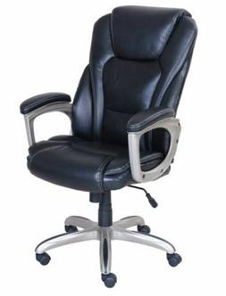Serta Large Commercial Office Chair, Cooling Memory Foam, Bl