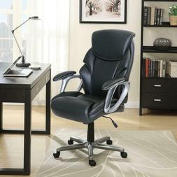 Serta Leather Manager's Office Computer Chair Black! NEW! Fr