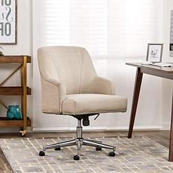 Serta Leighton Stoneware Beige Home Office Chair