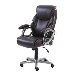 Serta Managers Office Chair Up To 250 Lb Brown Leather Comfo