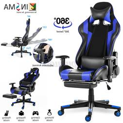 Gaming Chair Office Racing Style 180° Recliner Computer Sea