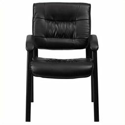 Pemberly Row Reception Guest Chair in Black