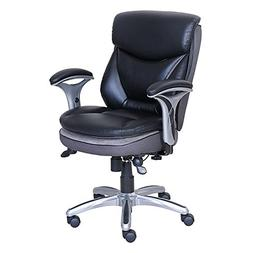 Serta Smart Layers Verona Manager Chair, Black/Silver