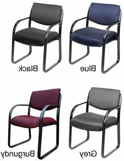 Steel Office Lobby Visitor Arm Chairs Task Guest Chair Black