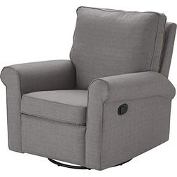 Truly Home Hughes Swivel Recliner Chair Gray